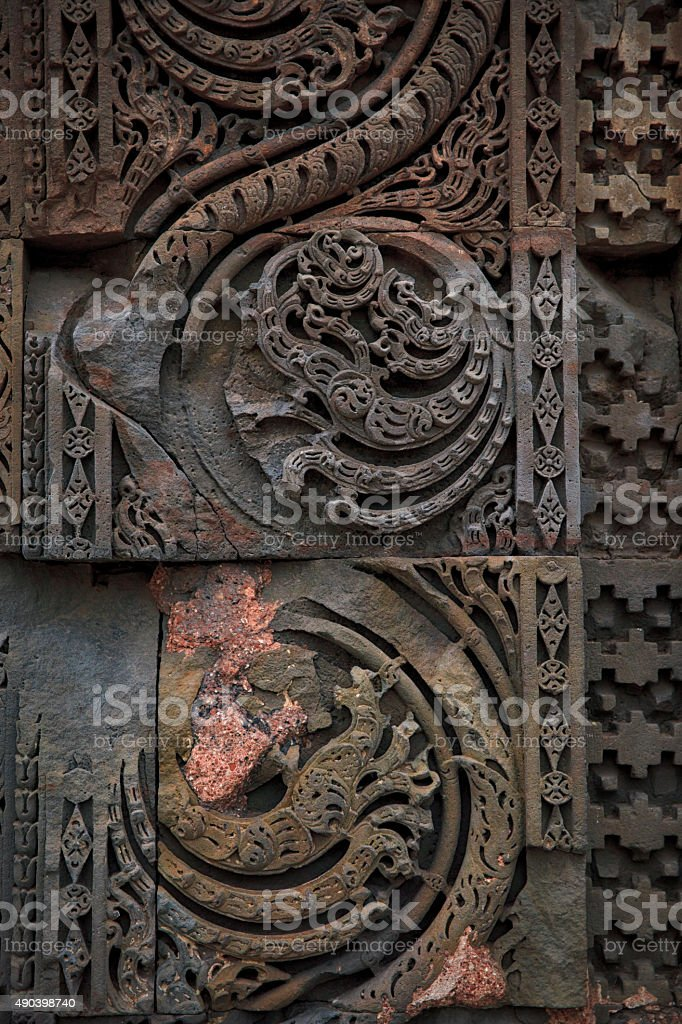 Detail of Column at Qutb Complex, India stock photo