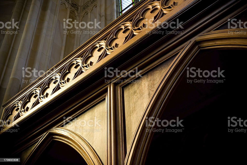 Detail of confessional royalty-free stock photo