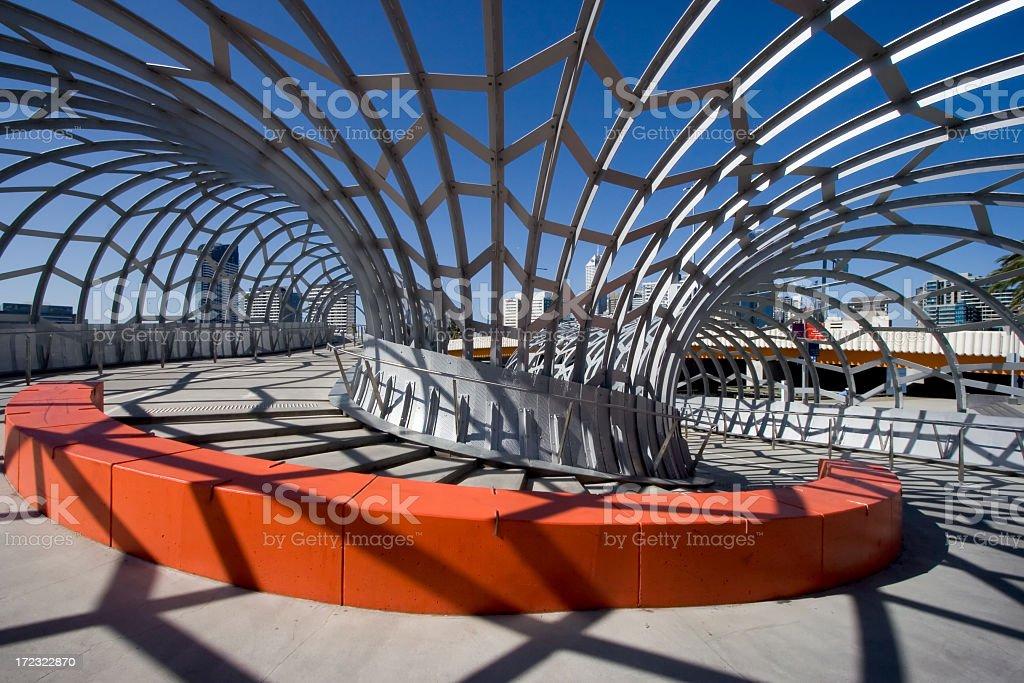 Detail of corner in Webb Bridge, Melbourne, Australia stock photo