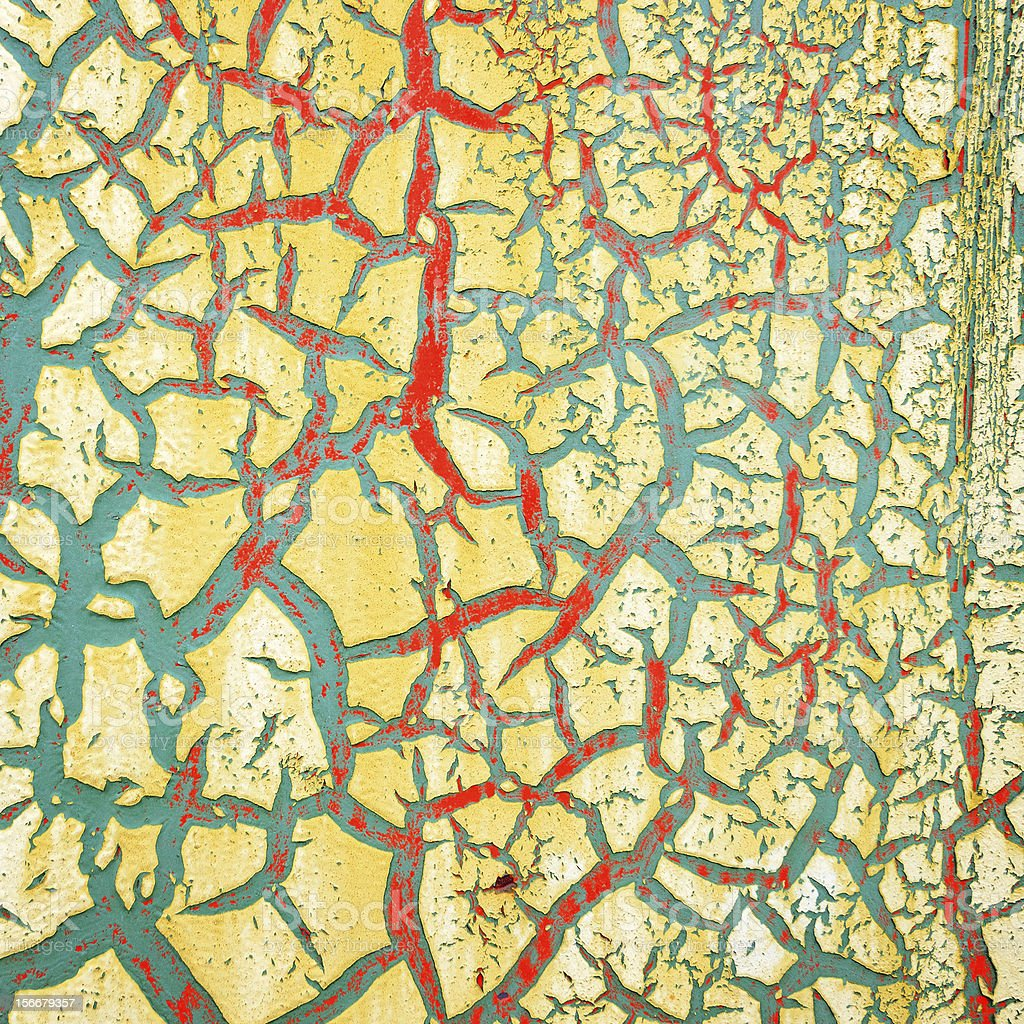 Detail of cracked paint on wall. royalty-free stock photo