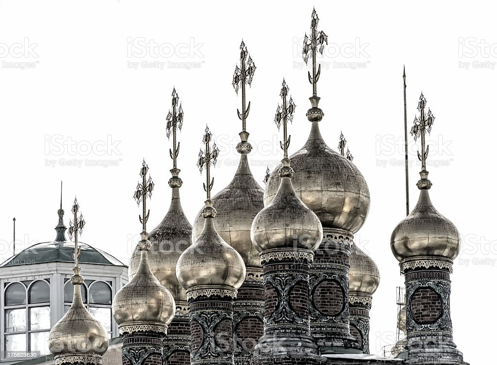 Detail of cupolas in The Upper Saviour's Cathedral stock photo