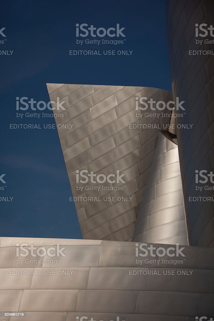 Detail of Disney Concert Hall exterior stock photo