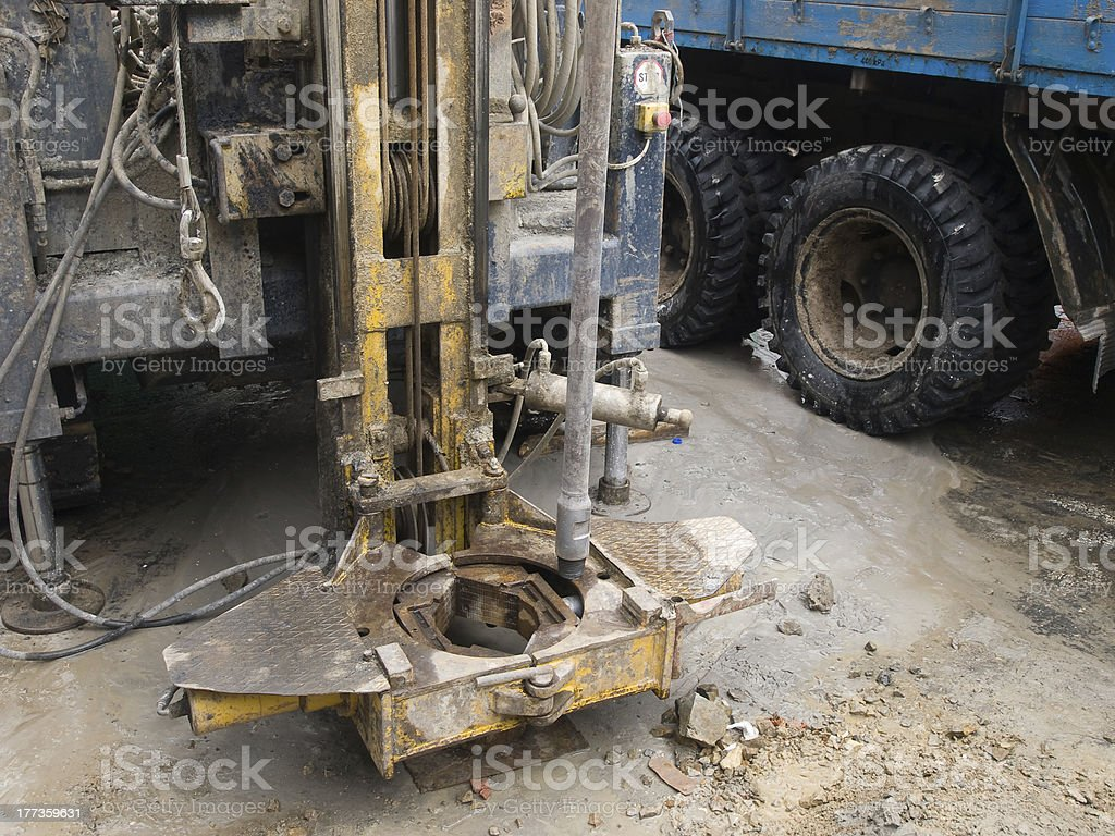 Detail of drilling rig royalty-free stock photo