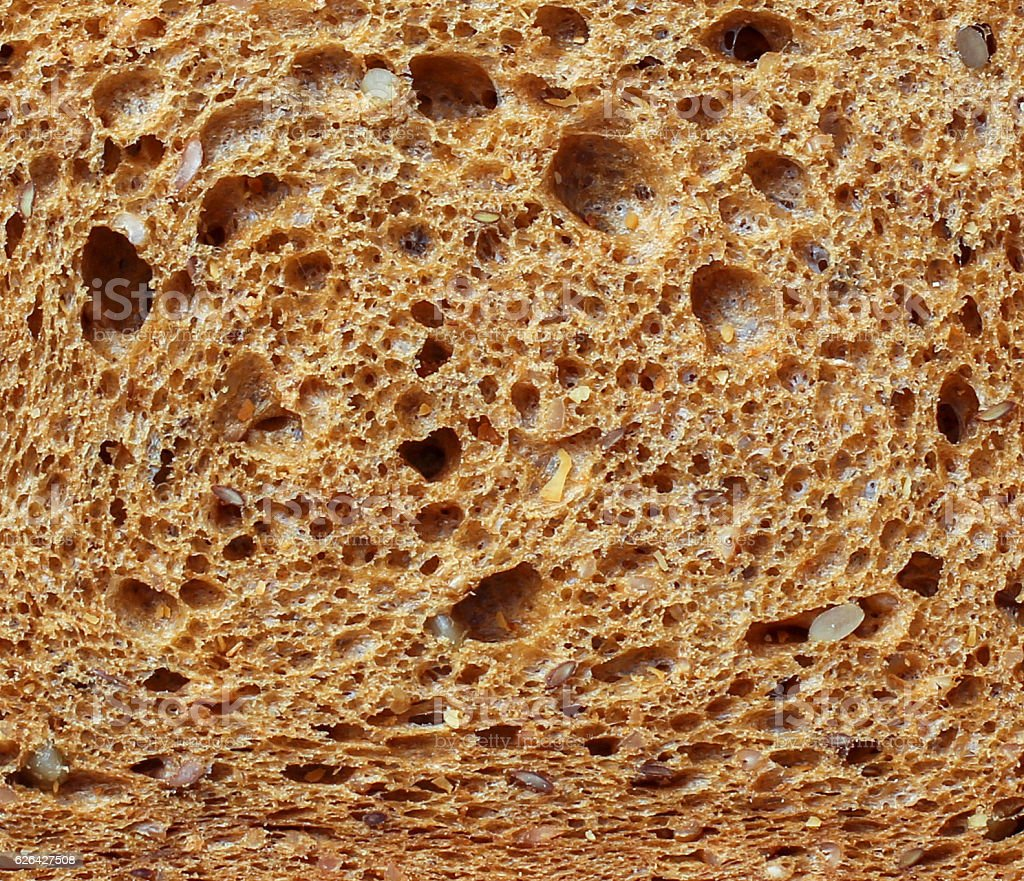 Detail of dry brown bread stock photo