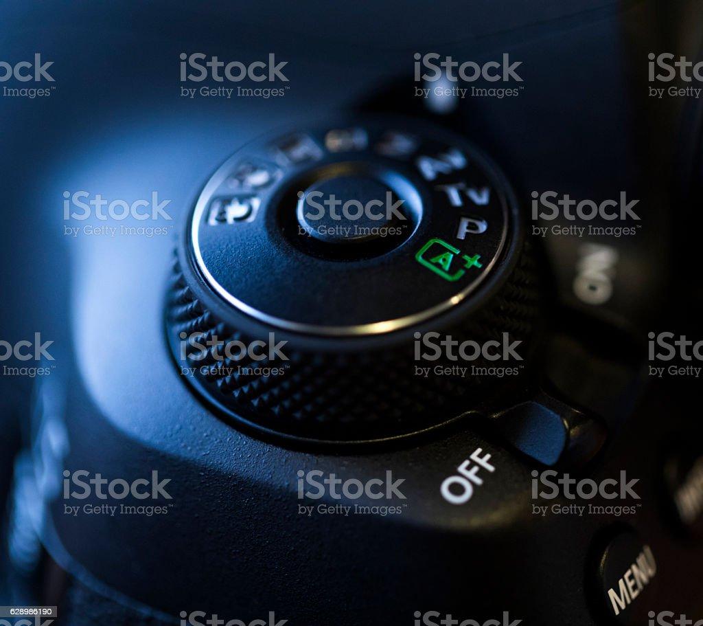 Detail Of DSLR Camera stock photo