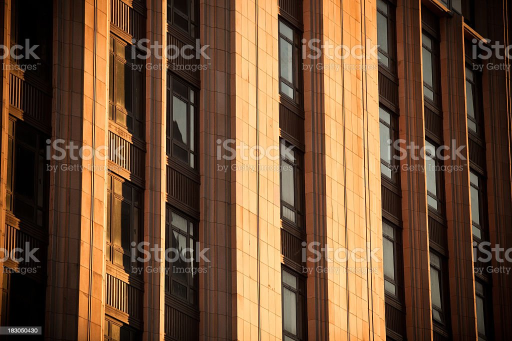 Detail of early 20th century bank building in San Francisco royalty-free stock photo