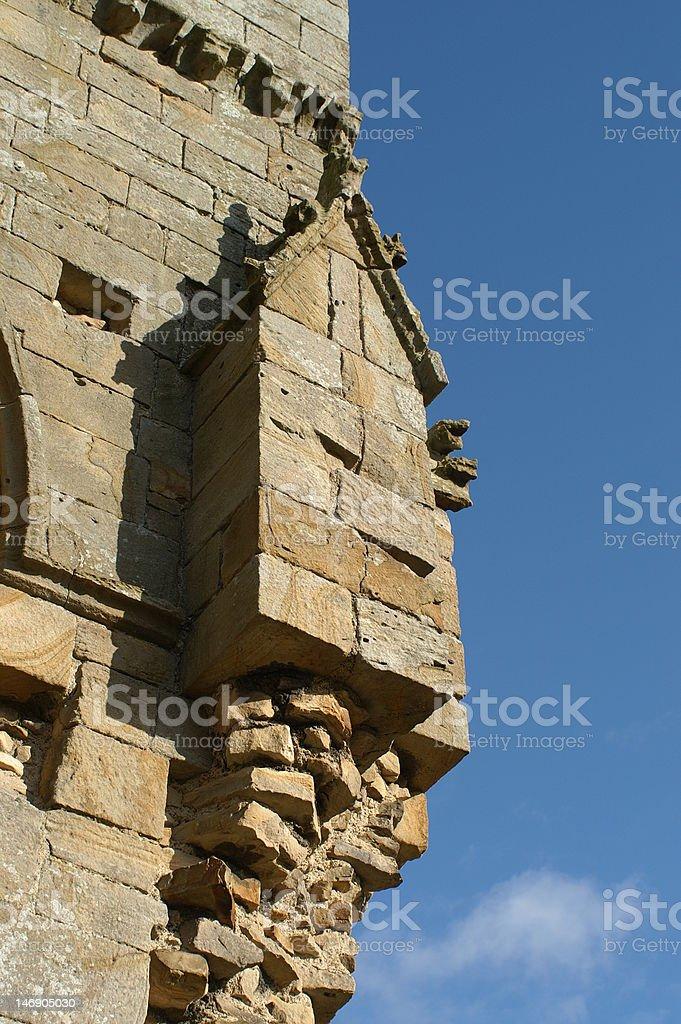 Detail of Egglestone Abbey stock photo