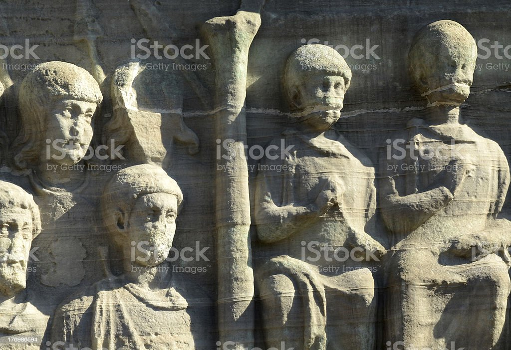 Detail of Egypt Reliefs royalty-free stock photo
