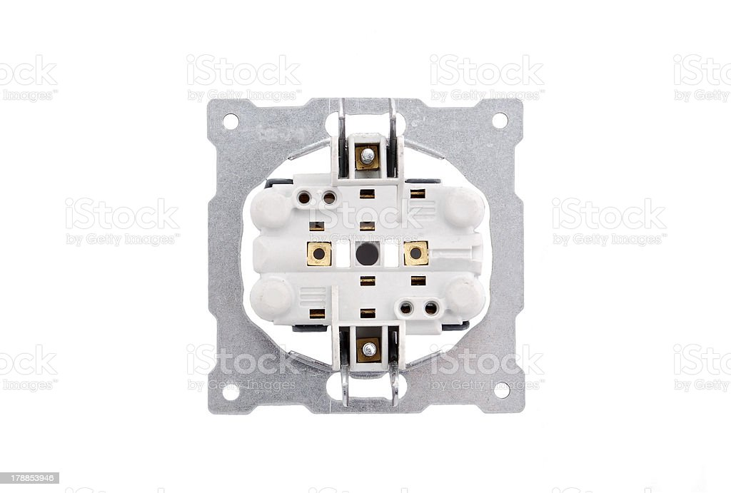 Detail of electric outlet royalty-free stock photo