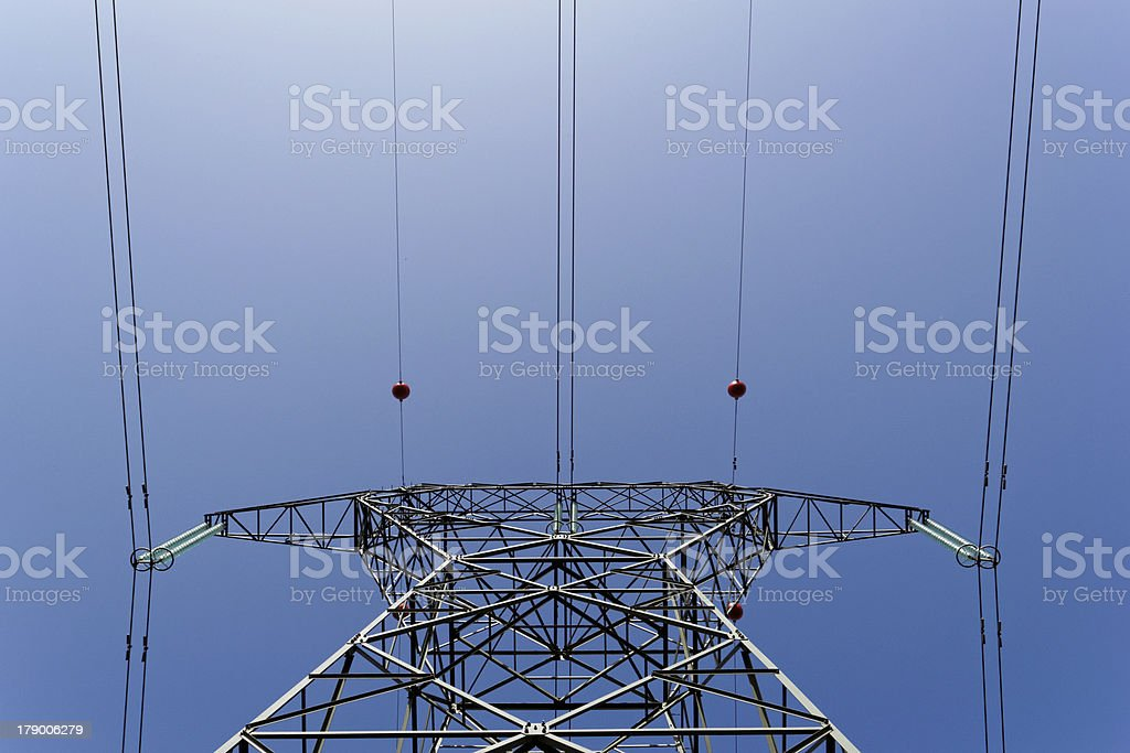 Detail of electricity pylon royalty-free stock photo