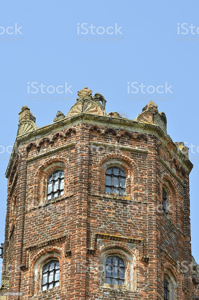 Detail of Elizabethan tower royalty-free stock photo