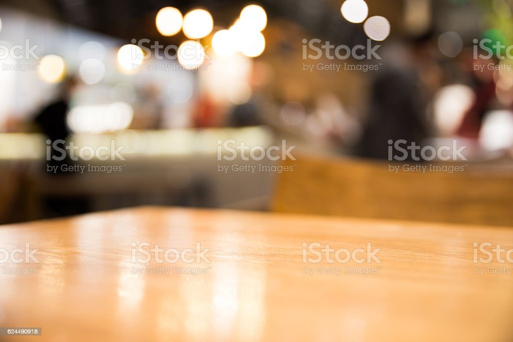 Detail of empty table in a cafe stock photo