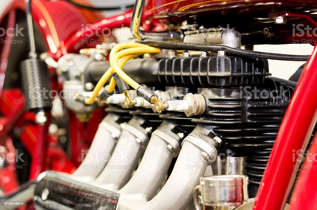 Detail of engine stock photo
