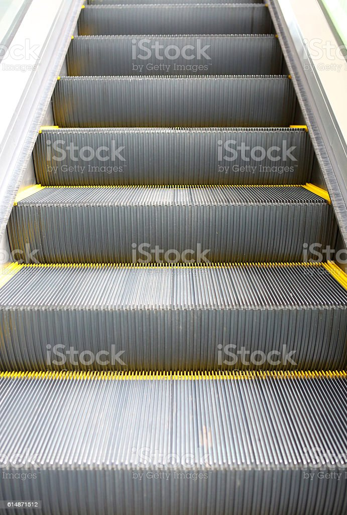 Detail of Escalator stock photo