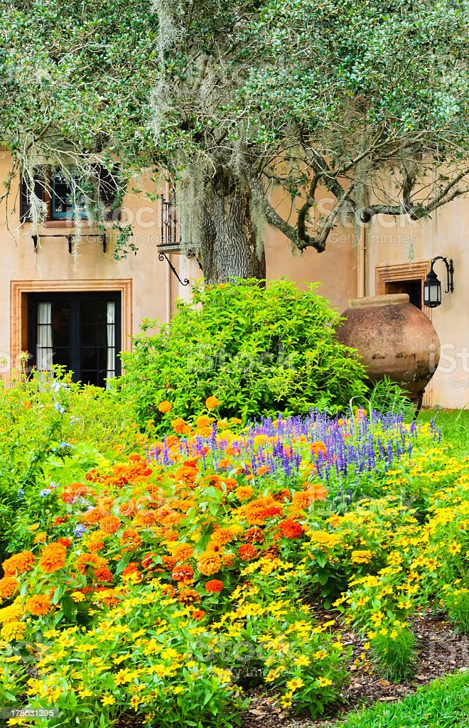 'Detail of estate garden in Lake Wales, Florida' stock photo