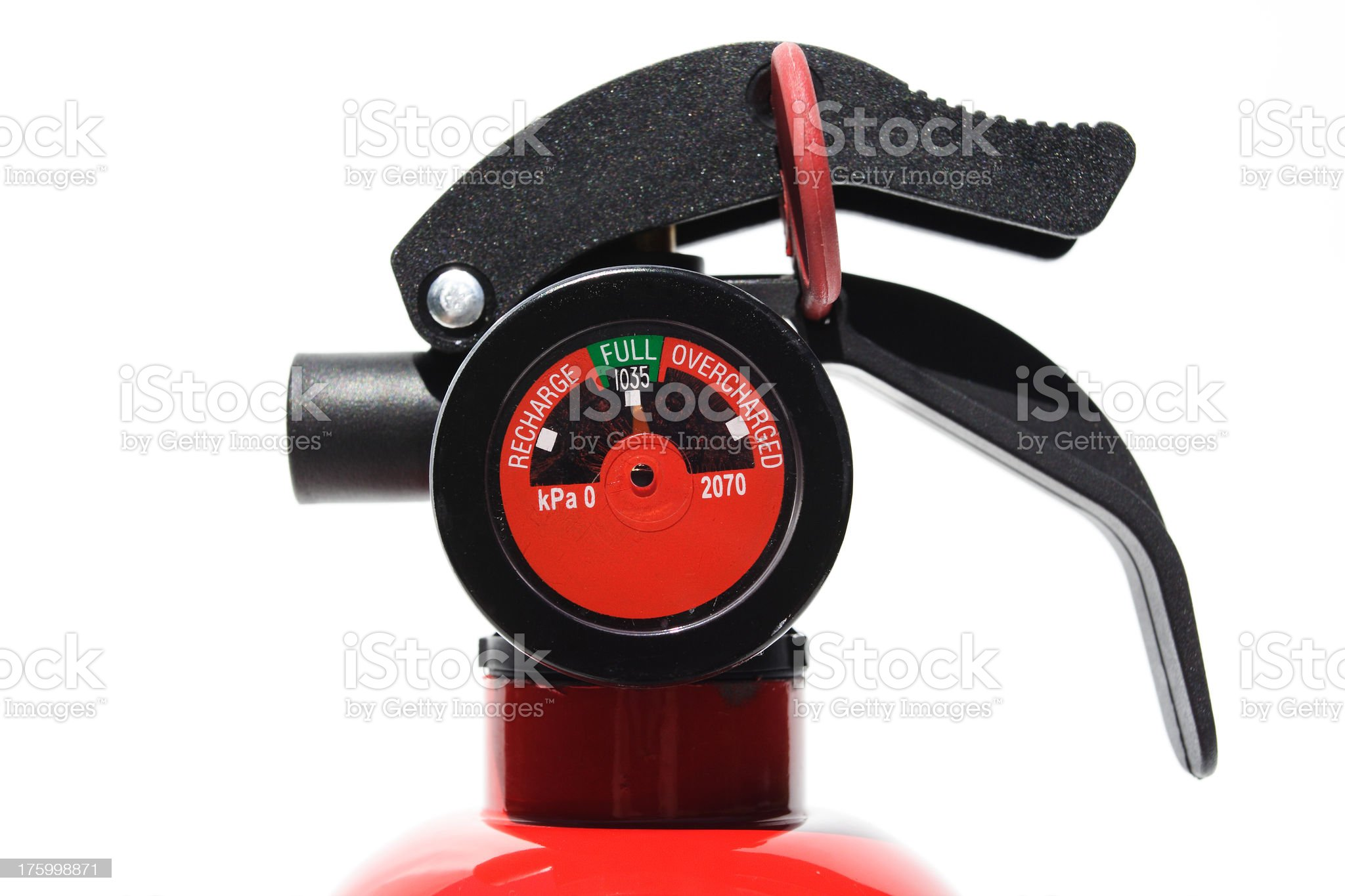 detail of extinguisher mechanism royalty-free stock photo