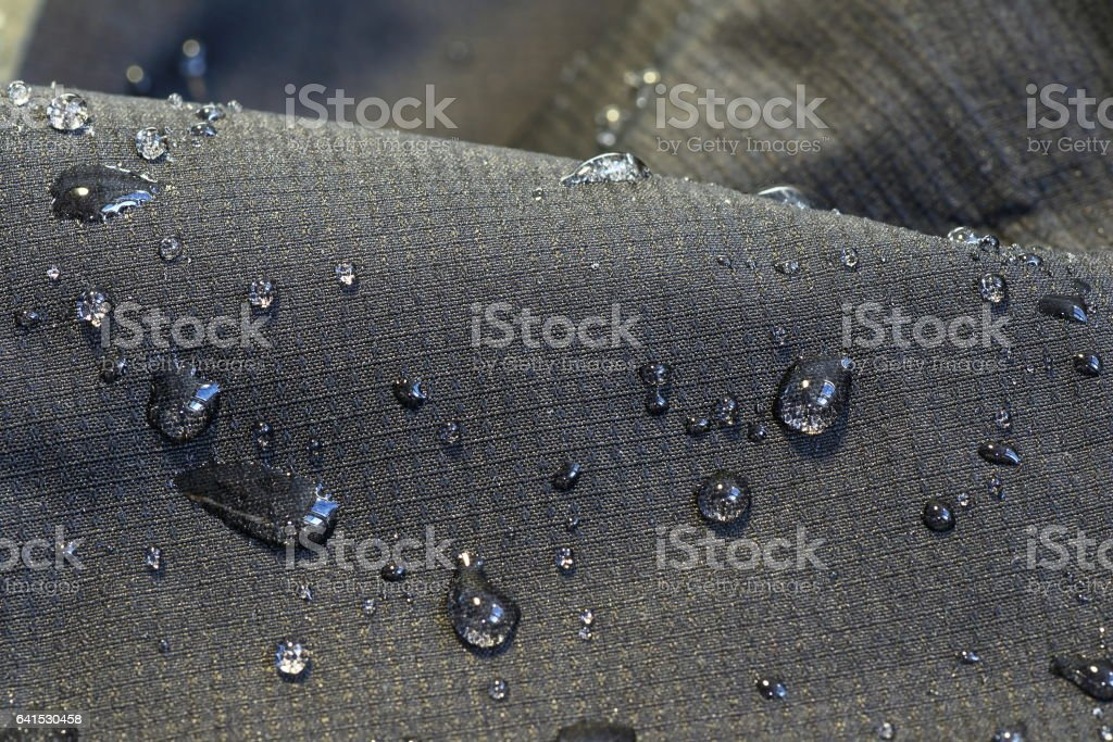 detail of fabric water repellent stock photo
