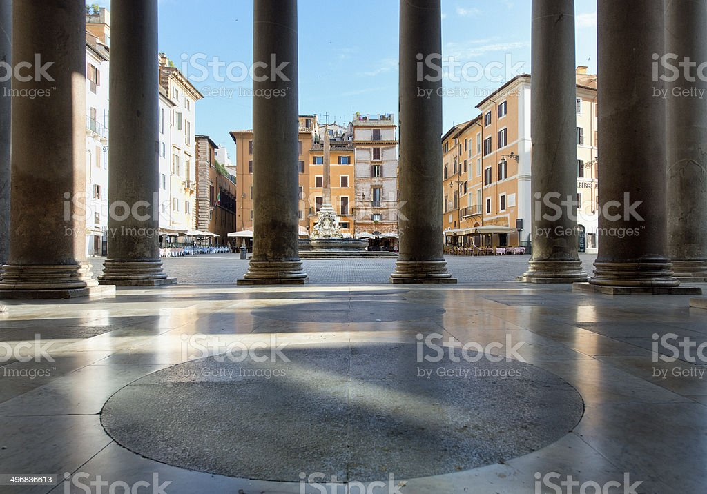 detail of facade of Pantheon, Rome. royalty-free stock photo