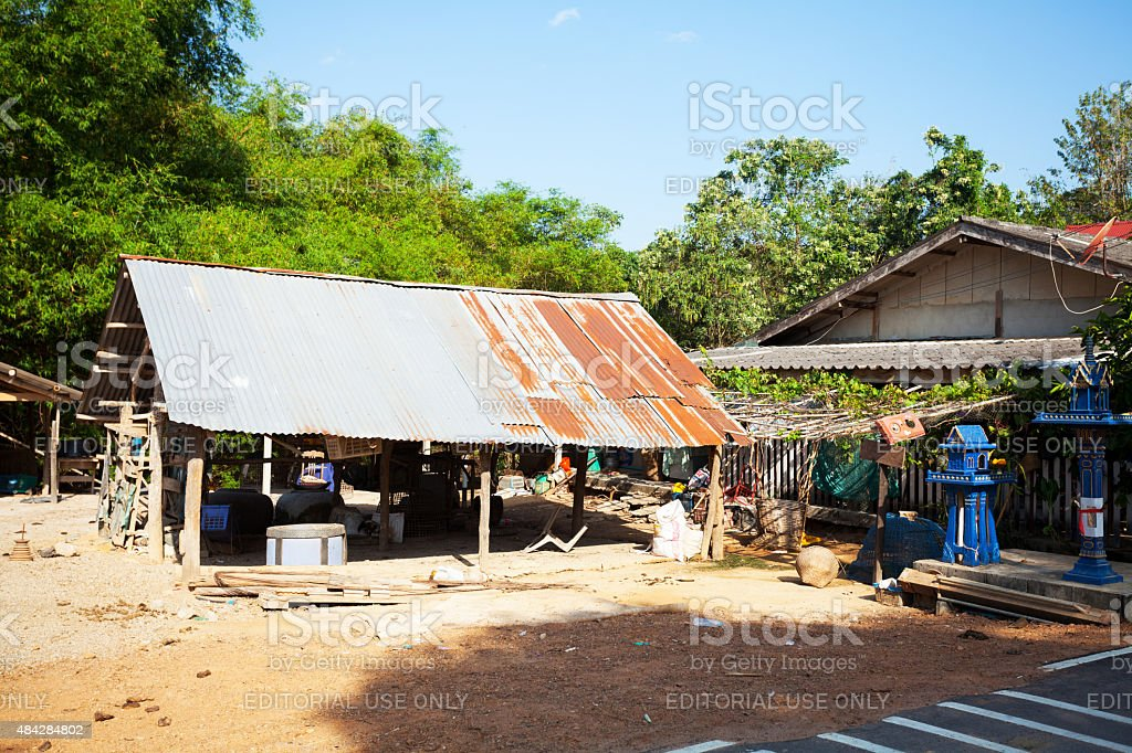 Detail of farm in Thailand stock photo