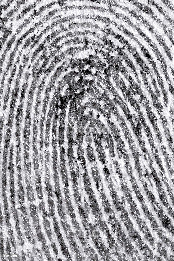 Detail of fingerprint royalty-free stock photo