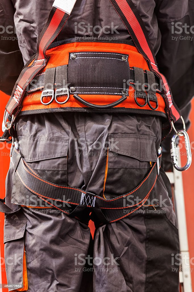 detail of fire fighting equipment stock photo