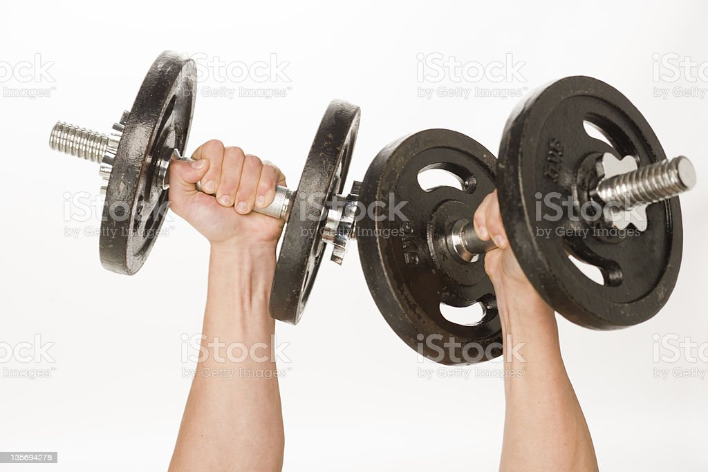 Detail of fitness equipment stock photo