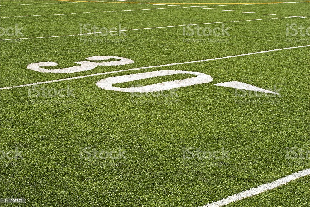 Detail of football field royalty-free stock photo