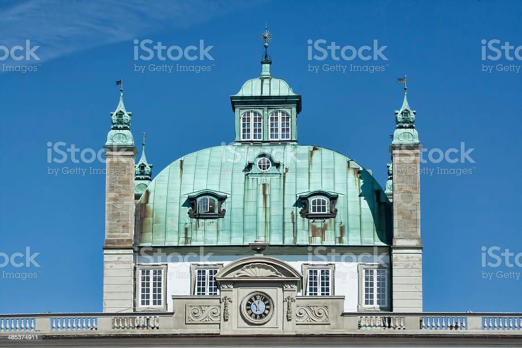 Detail of Fredensborg Castle in Denmark stock photo