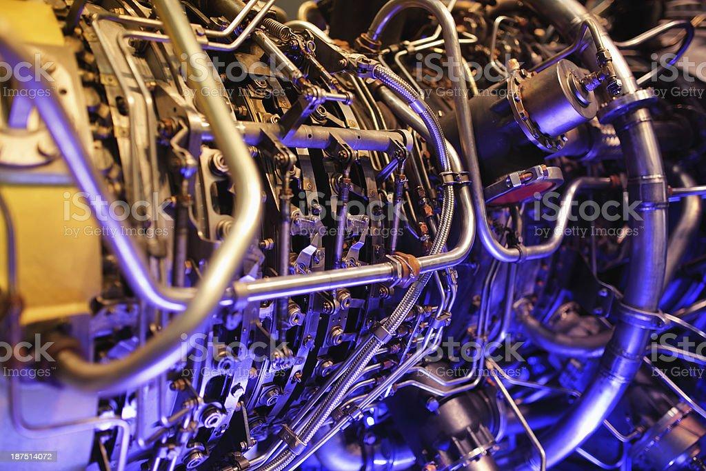 Detail of gas-turbine installation stock photo