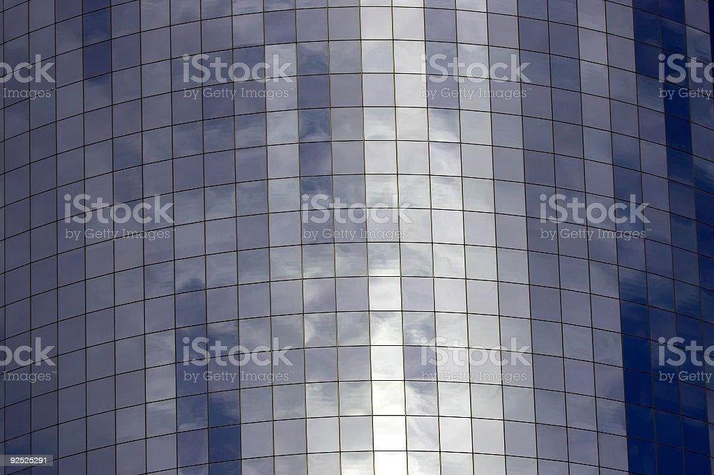 Detail of Glass fronted building royalty-free stock photo