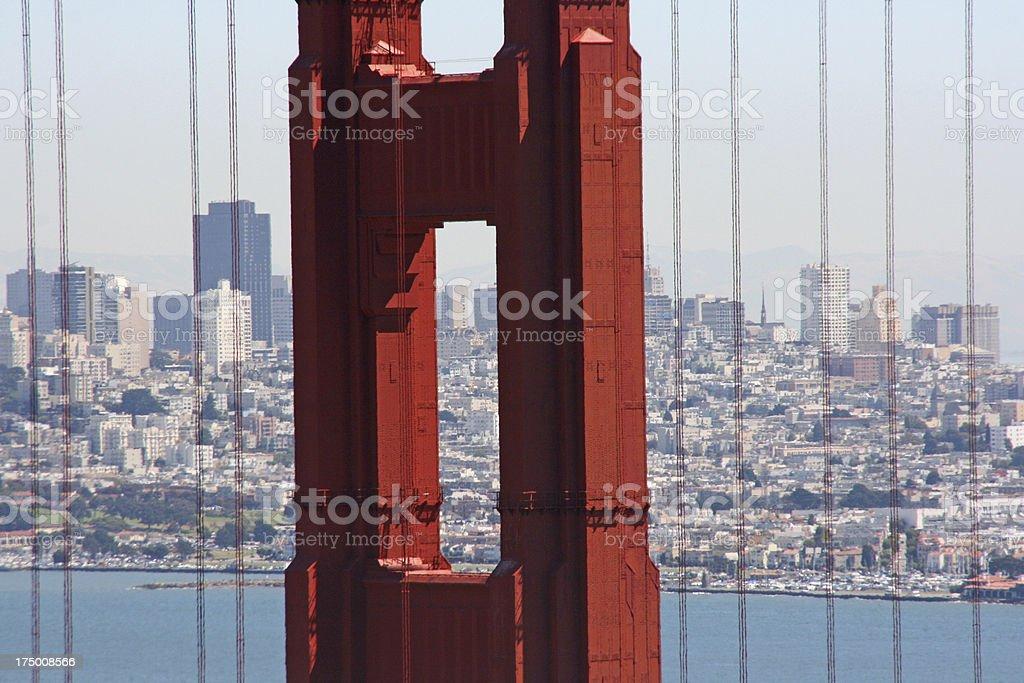 detail of Golden Gate bridge in san francisco, california royalty-free stock photo