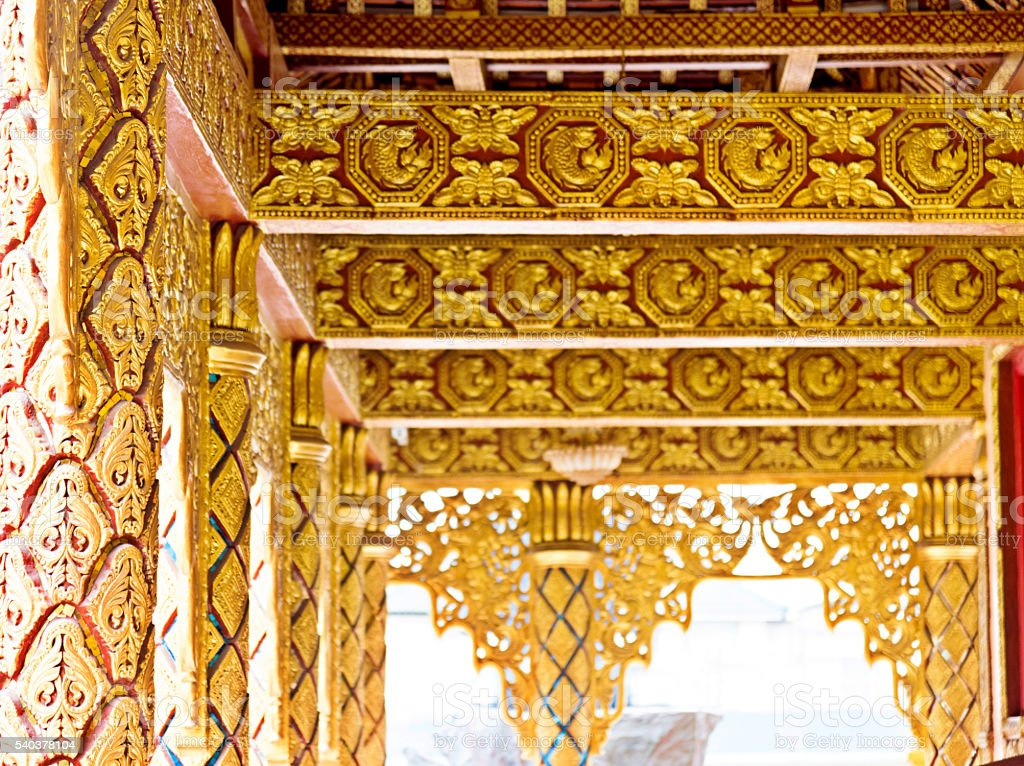 Detail of golden temple stock photo