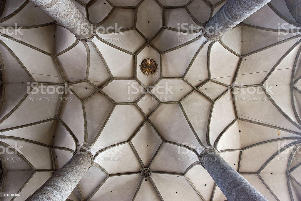 Detail of gothic ceiling in Salzburg stock photo