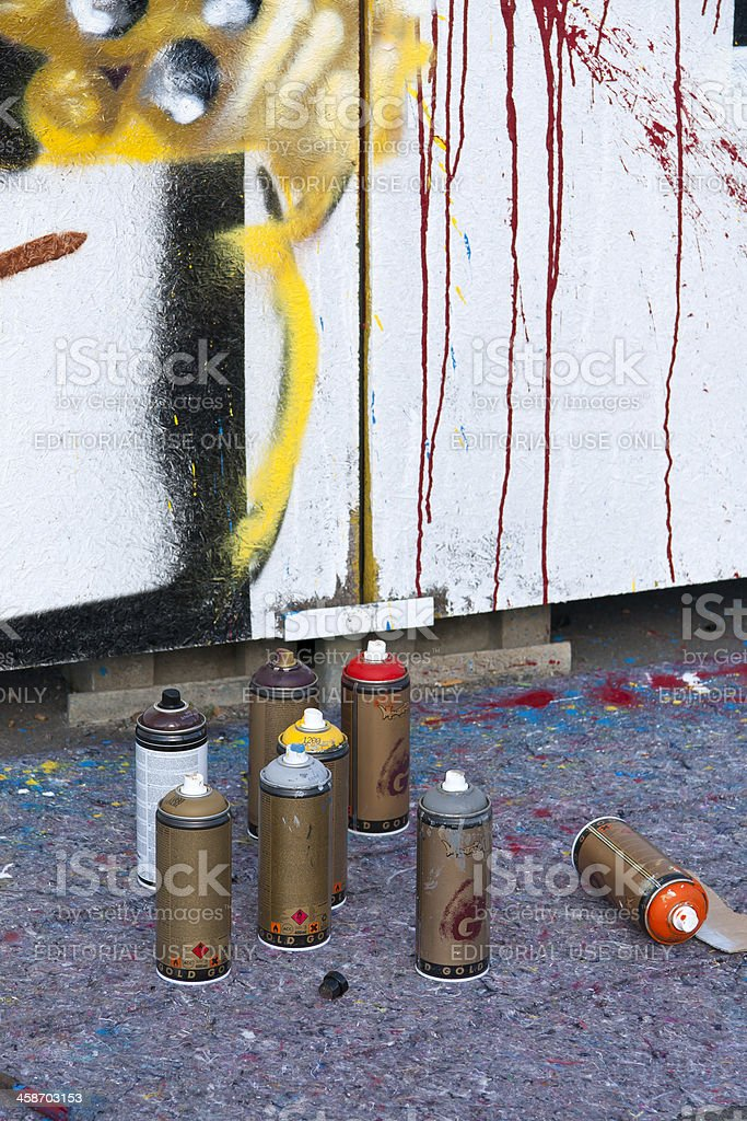 Detail of Graffiti Action stock photo