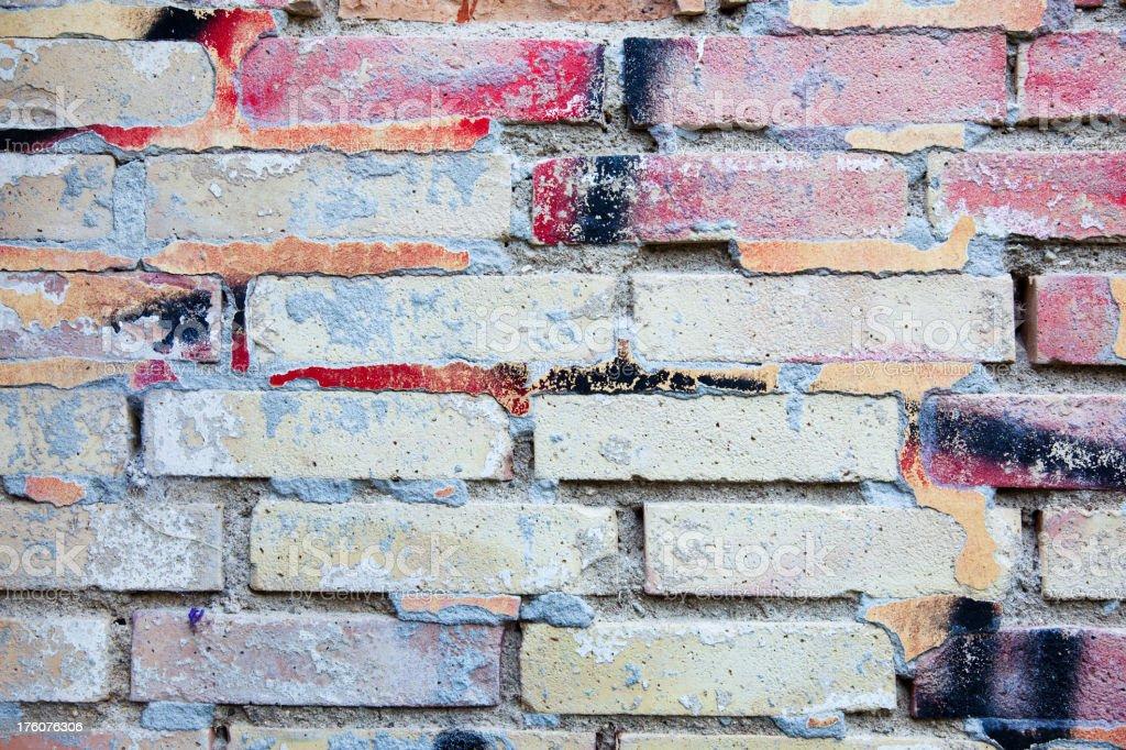 Detail of graffiti. Art or vandalism. stock photo