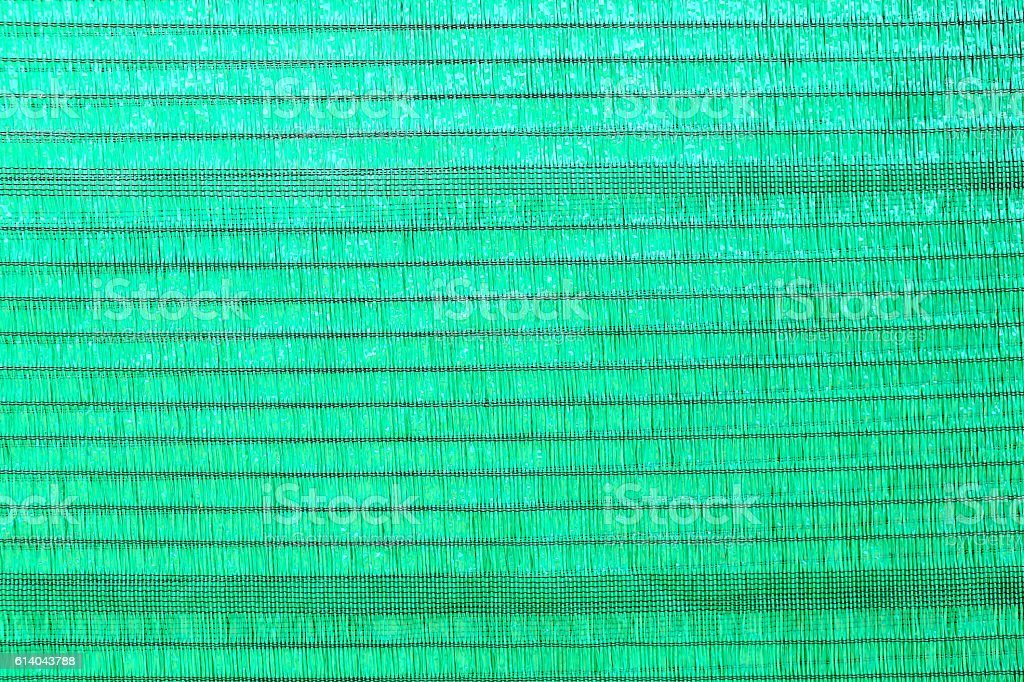 detail of Green mesh texture for protection against the sun stock photo