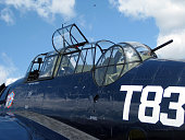 Detail of Grumman TBM Avenger military aircraft