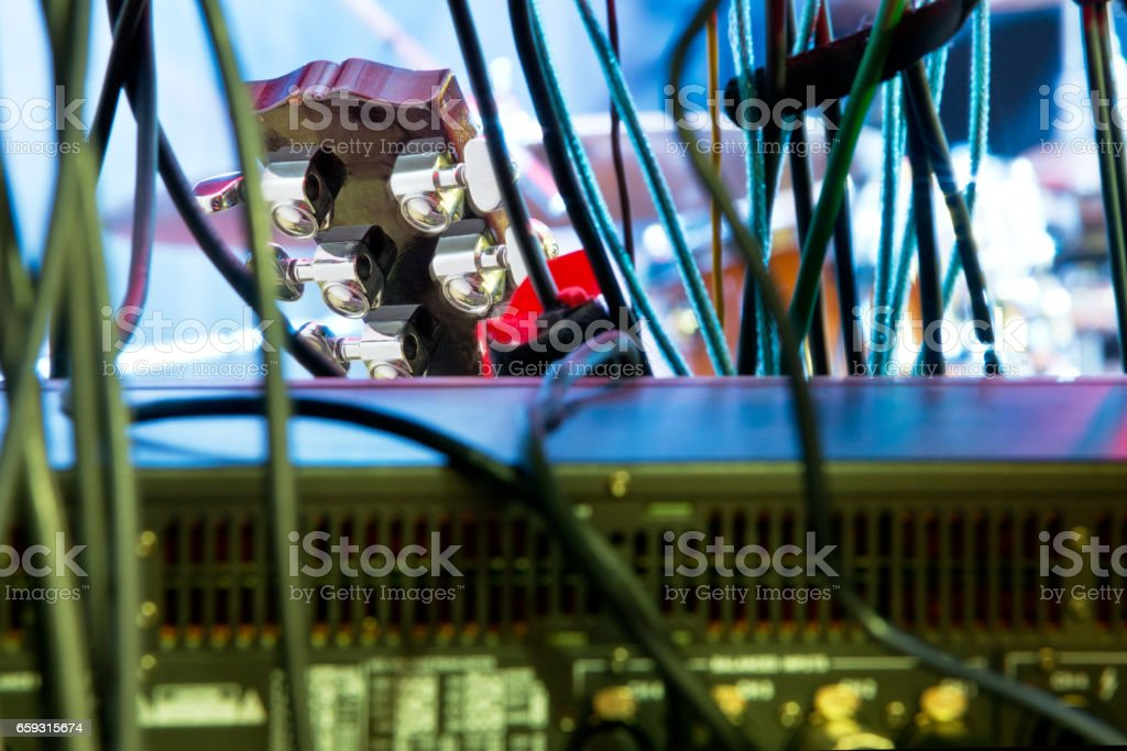 Detail Of Guitar And Music Apparatus stock photo
