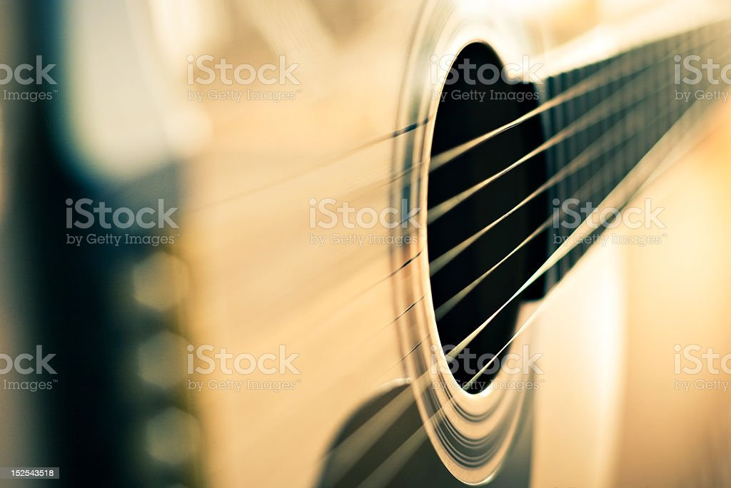 detail of guitar stock photo