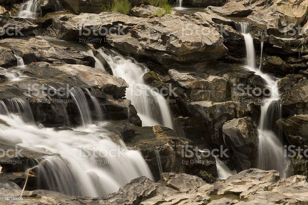 Detail of Gurara Falls stock photo