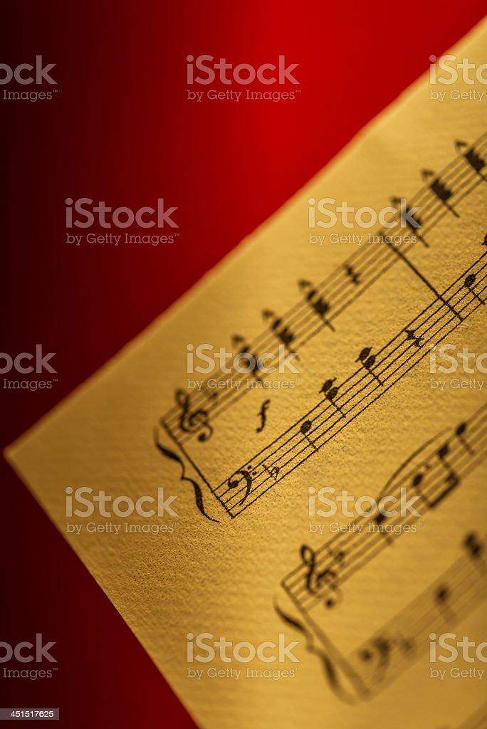 Detail of hand written sheet music stock photo