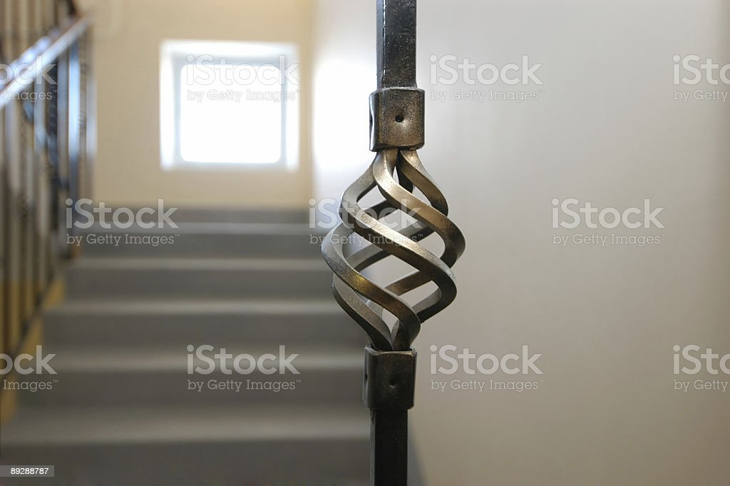 Detail of handrail royalty-free stock photo
