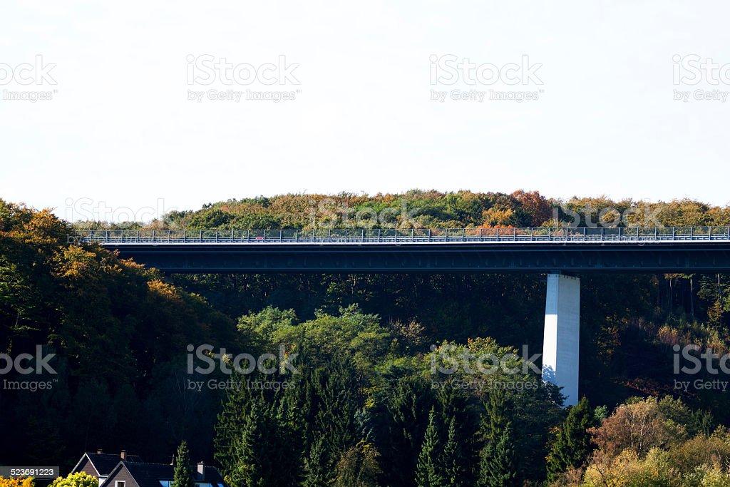 Detail of highway bridge Ruhrtalbr?cke stock photo