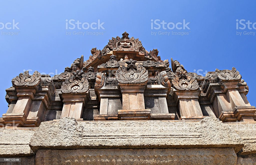 Detail of Hindu temple royalty-free stock photo