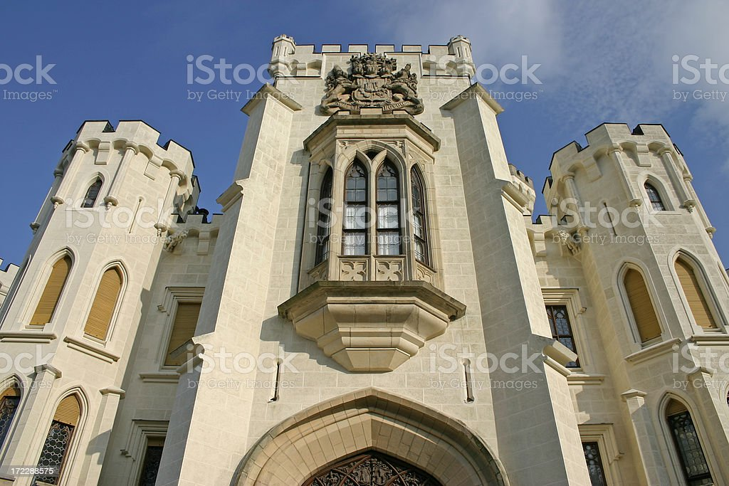 Detail of Hluboka Castle stock photo