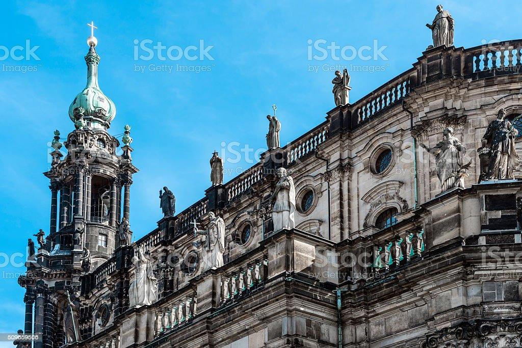 Detail of Hofkirche Dresden stock photo