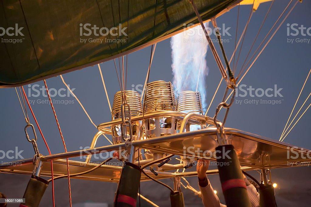 Detail of hot air balloon royalty-free stock photo