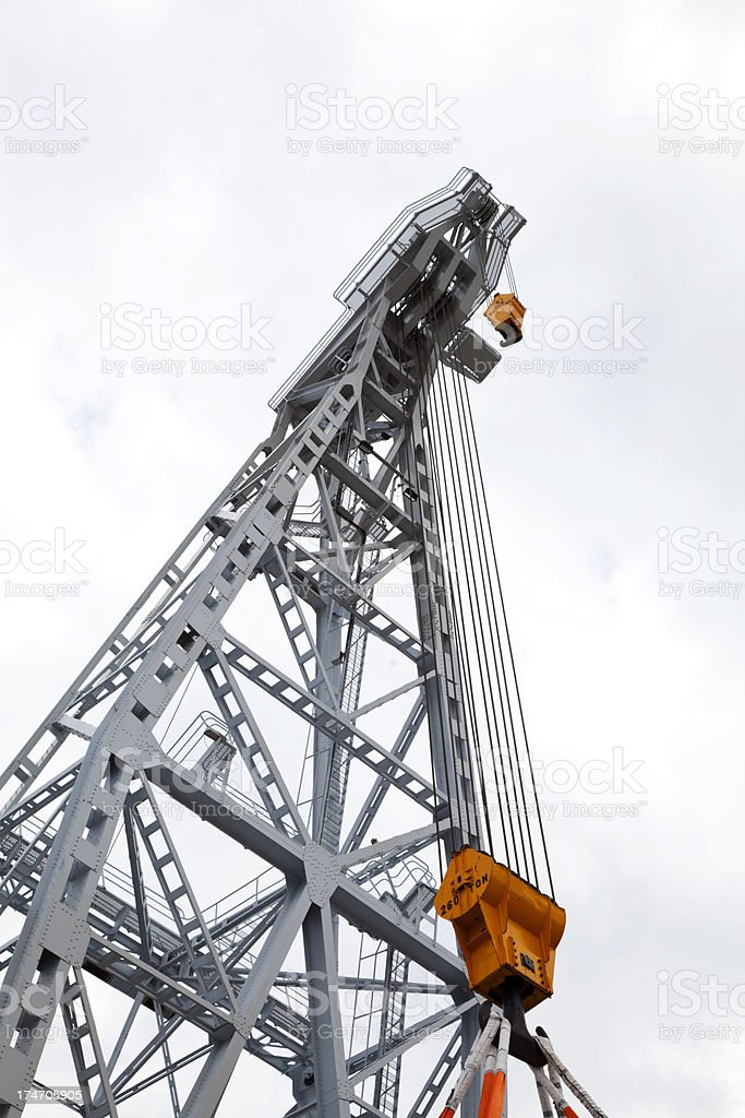 Detail of huge crane in Stockholm harbour royalty-free stock photo