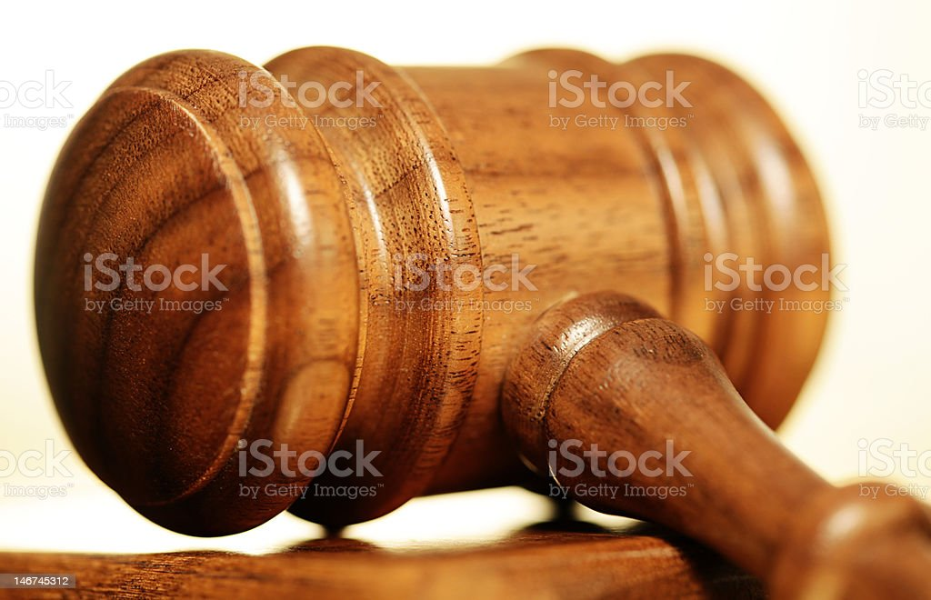 Detail of judge's gavel royalty-free stock photo