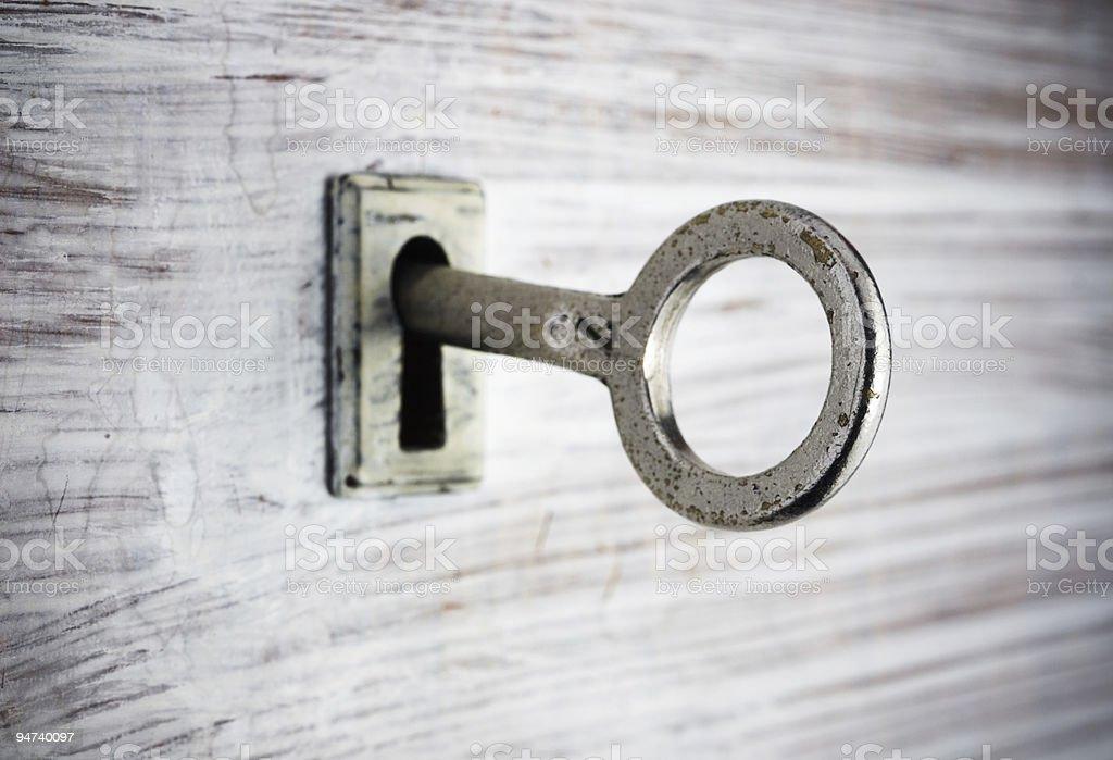 Détail de la clé photo libre de droits